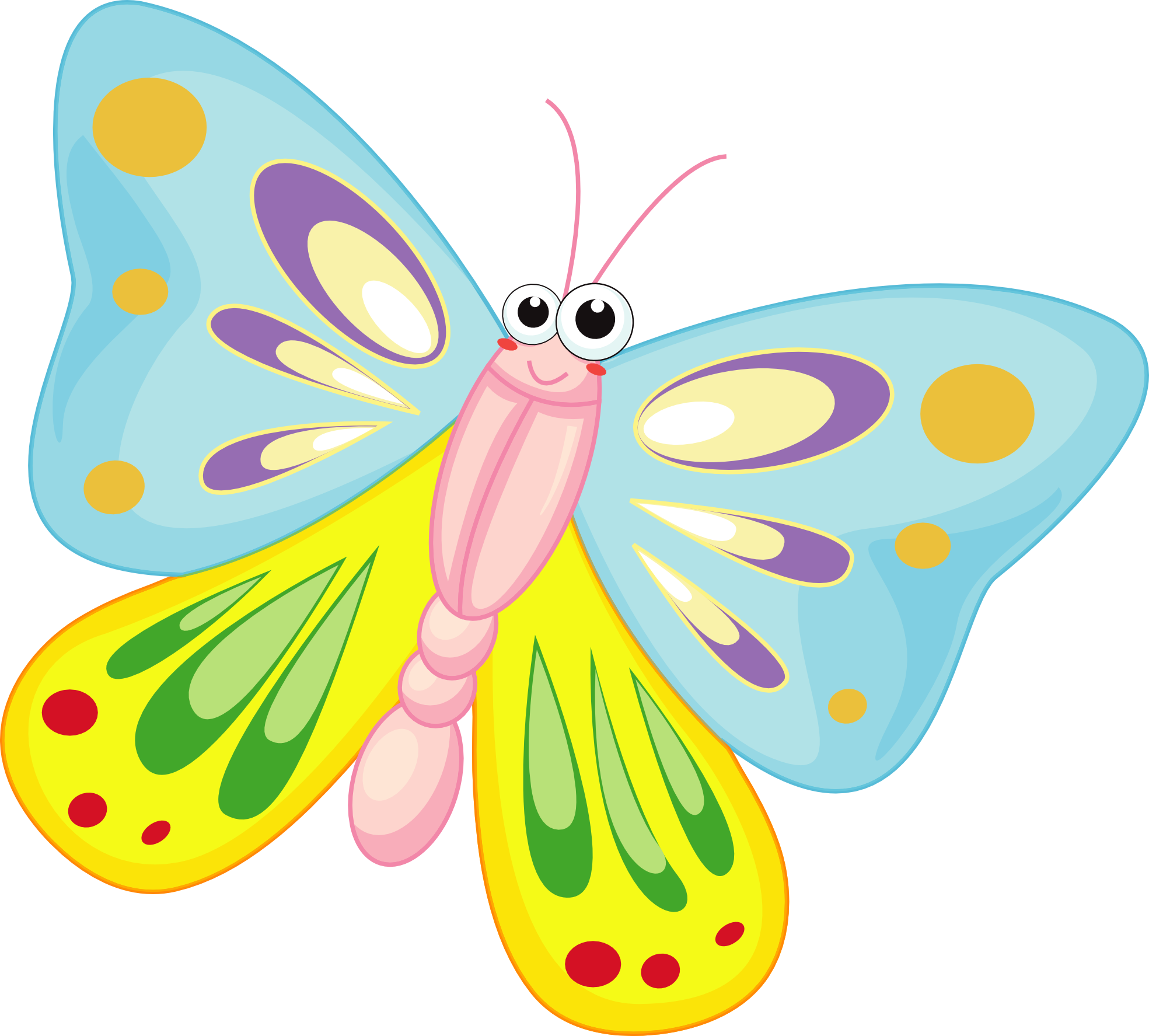 Smiley clipart butterfly. Free cartoon download clip