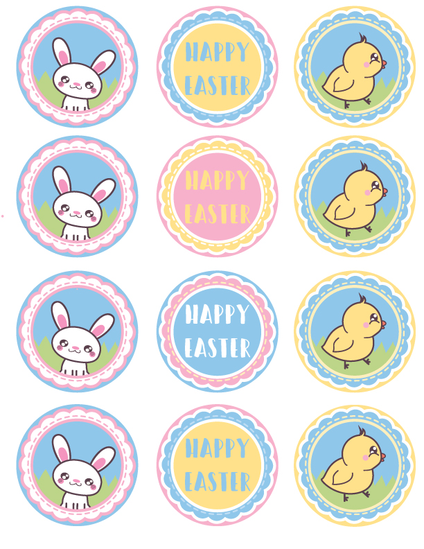 This is a picture of Unicorn Cupcake Toppers Printable with kawaii