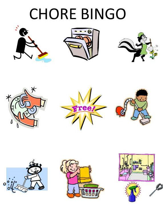 Free printable clipart household chore. Best reward and