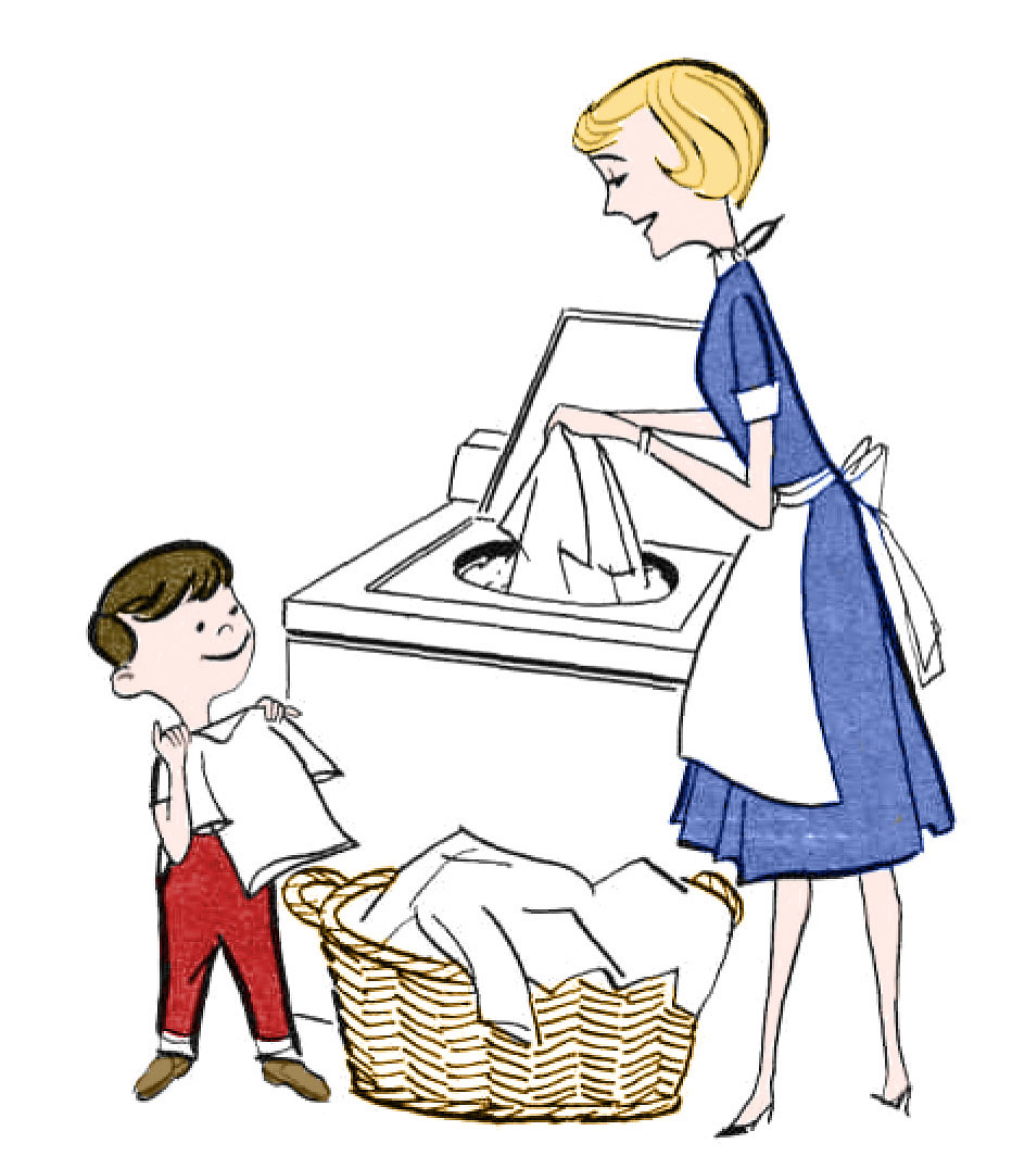 Laundry clipart responsibilty. Retro clip art day