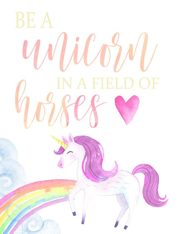 Free printable clipart unicorn. Be a flamingo and