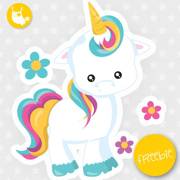 Free printable clipart unicorn. Freebie commercial use educational