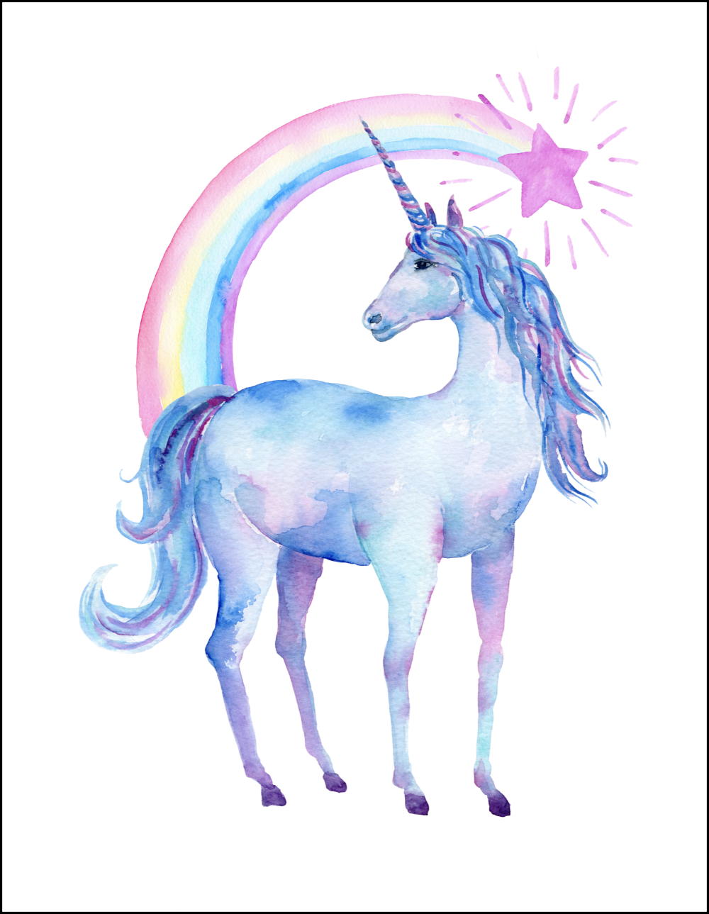 Free printable clipart unicorn. Images