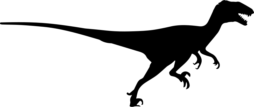 Raptor vector silhouette. Velociraptor at getdrawings com