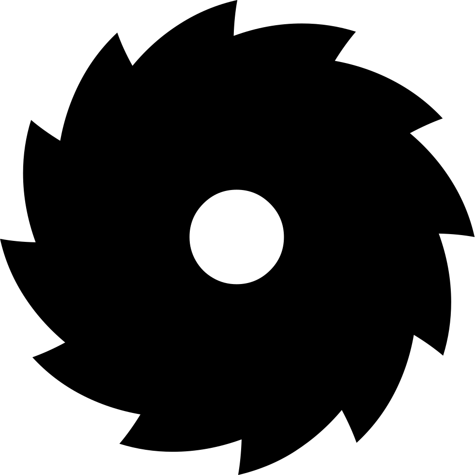 free saw blade png image black and white