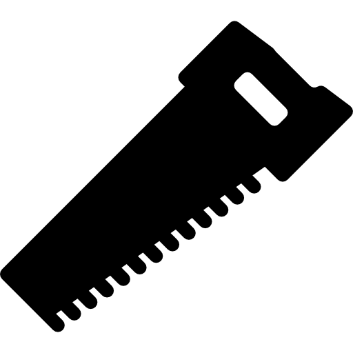 Blade vector hand saw. Icons free download demo
