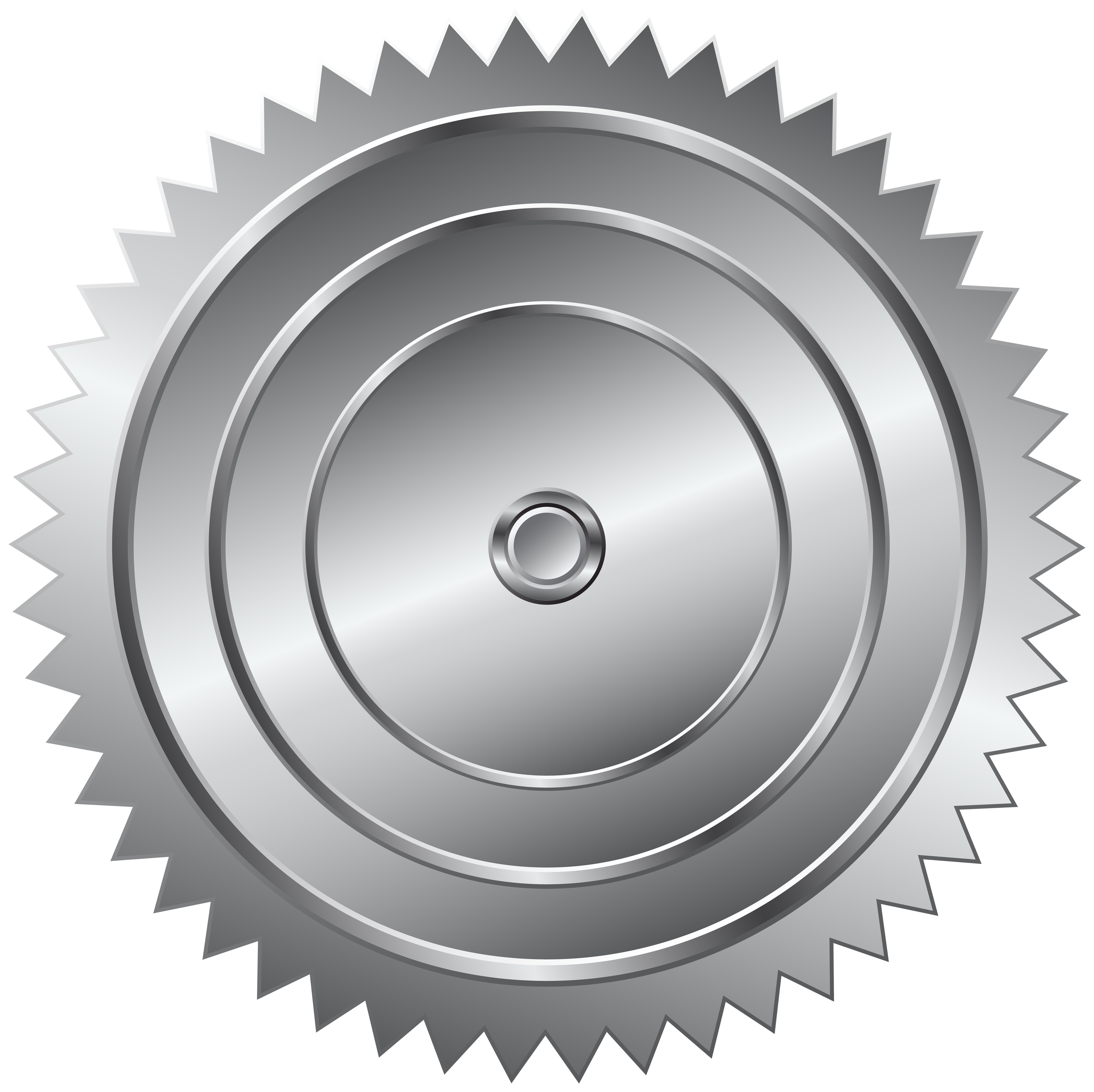 Free saw blade png image black and white. Gear silver clip art