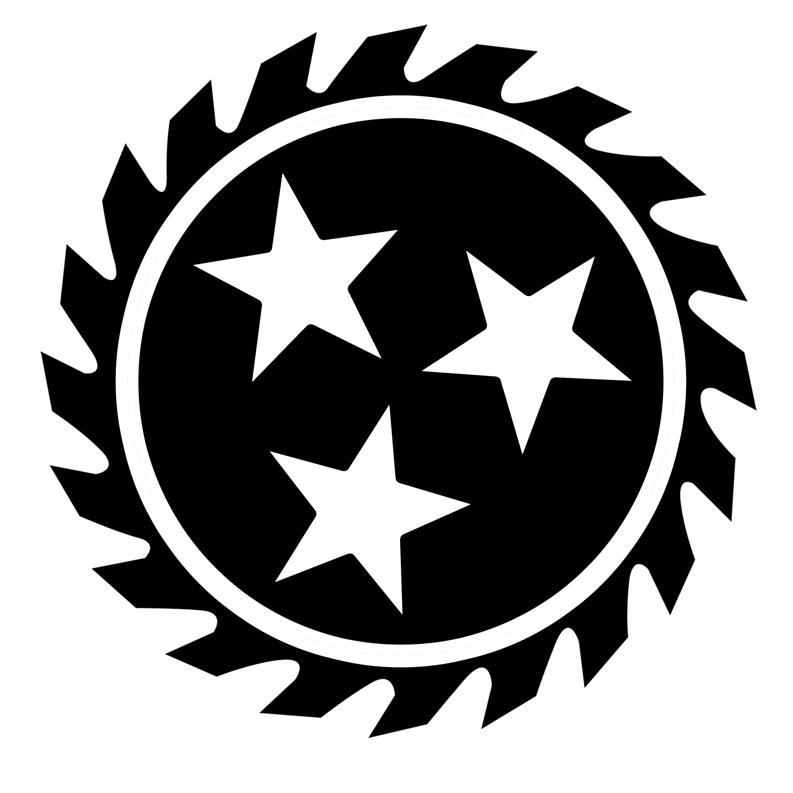 Logo design glamorous for. Free saw blade png image black and white banner stock