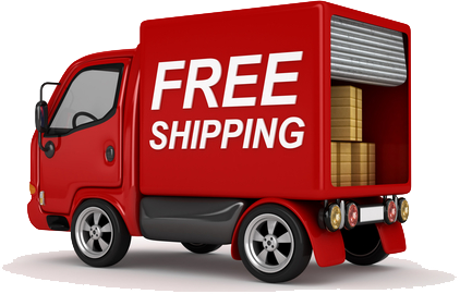 Free shipping truck png. Red car icons and