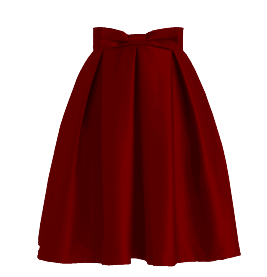 Free skirt png. Red by sunnysidessue on