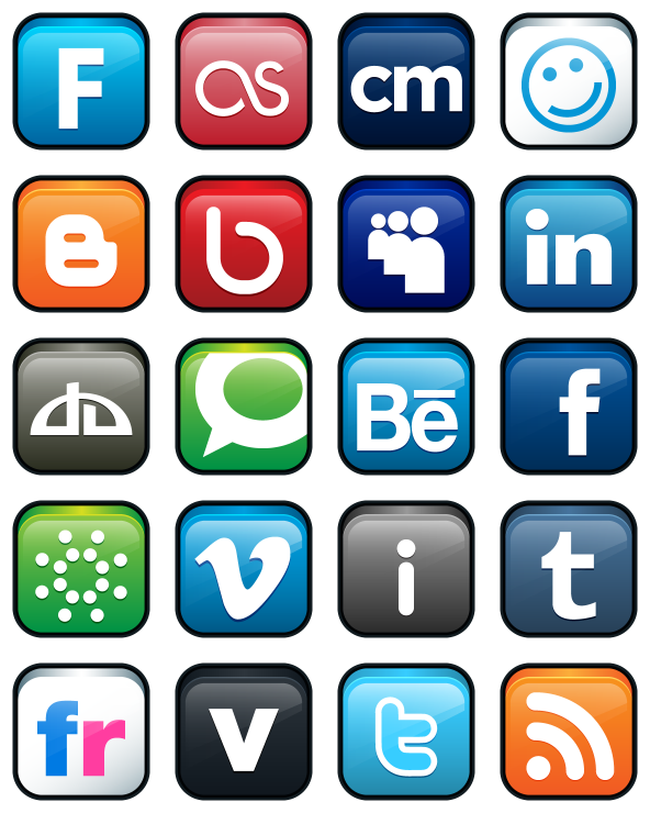 Media icons png. Social free logos icon