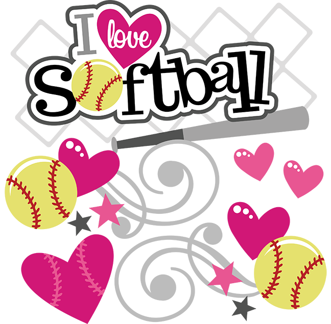 Free softball png. I love svg file