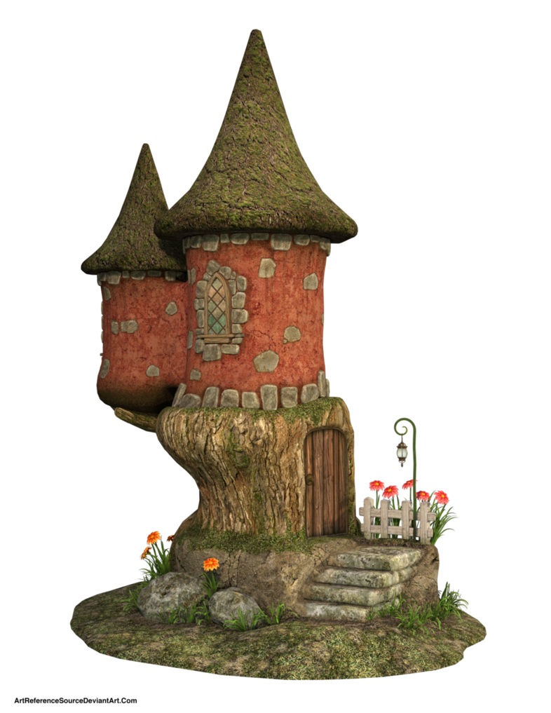 Free stock png images. Cute fairy house by