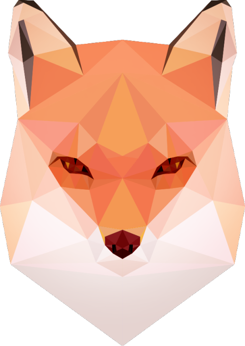 Geometric fox png