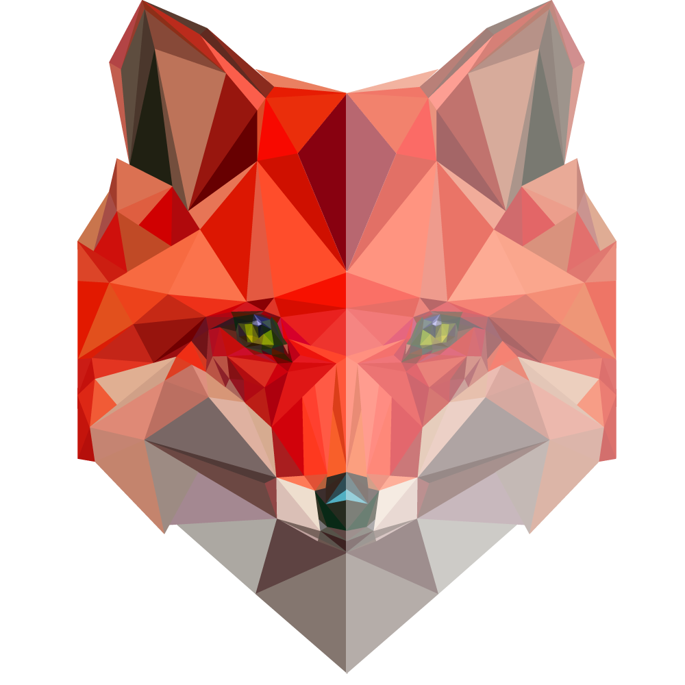Geometrical drawing fox. Low polygon pinterest foxes