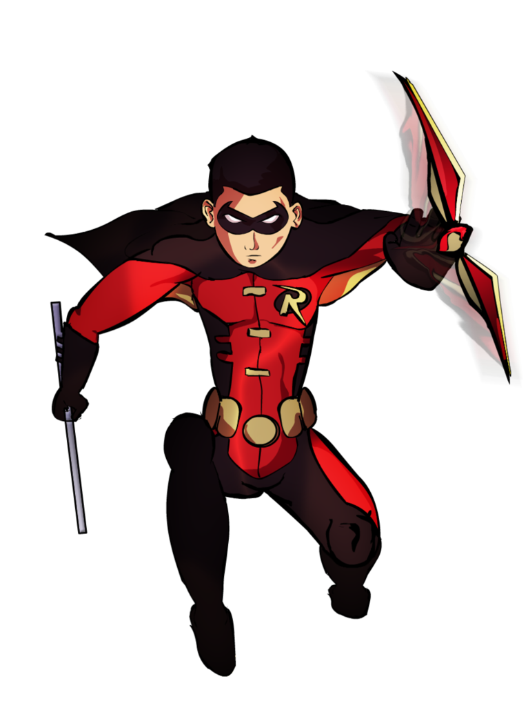 Red robin png. Superhero transparent images all