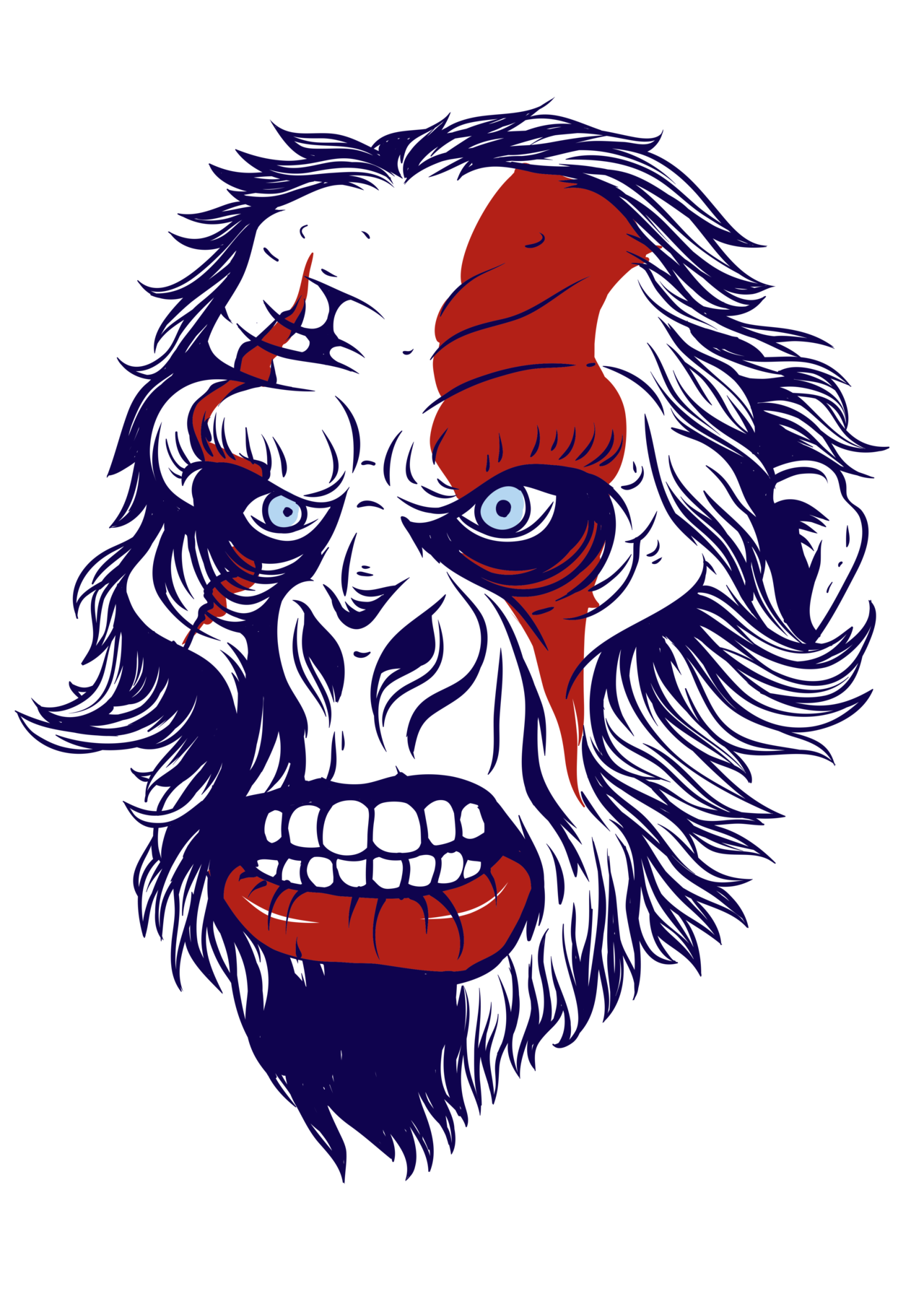 Gorilla skull png. God of war iii