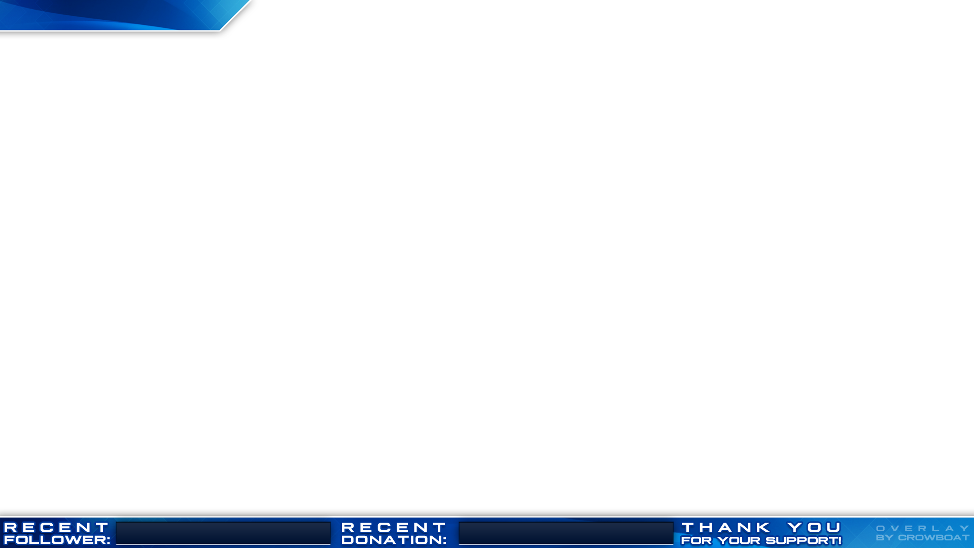 Free twitch overlays png. Overlay minimal design blue