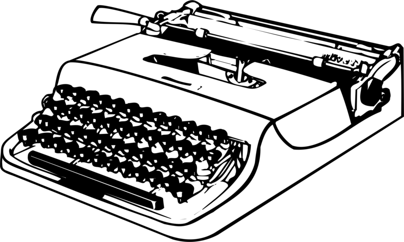 Download free photos dlpng. Typewriter png clip black and white stock