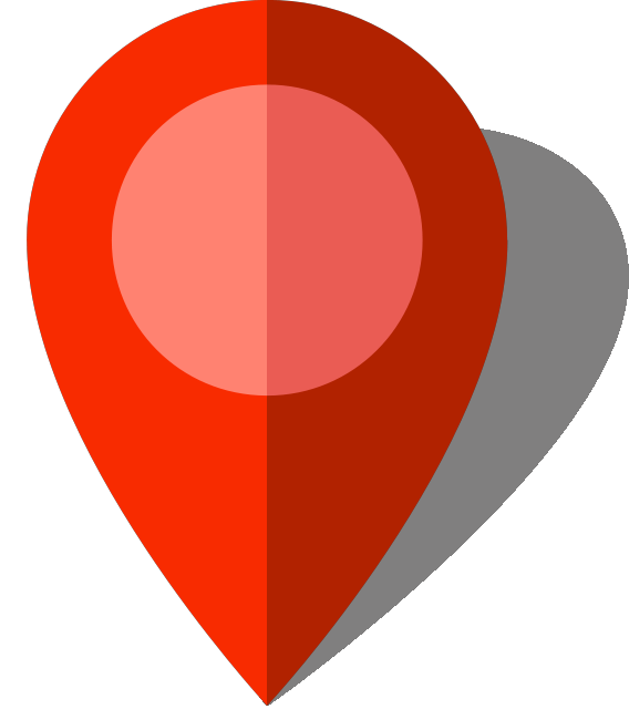 Red location pin png. Simple map icon free