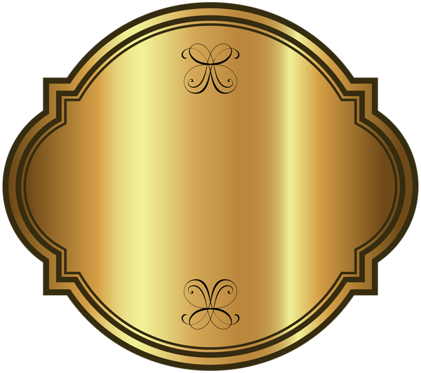 Gold labels png. Luxury label template clipart