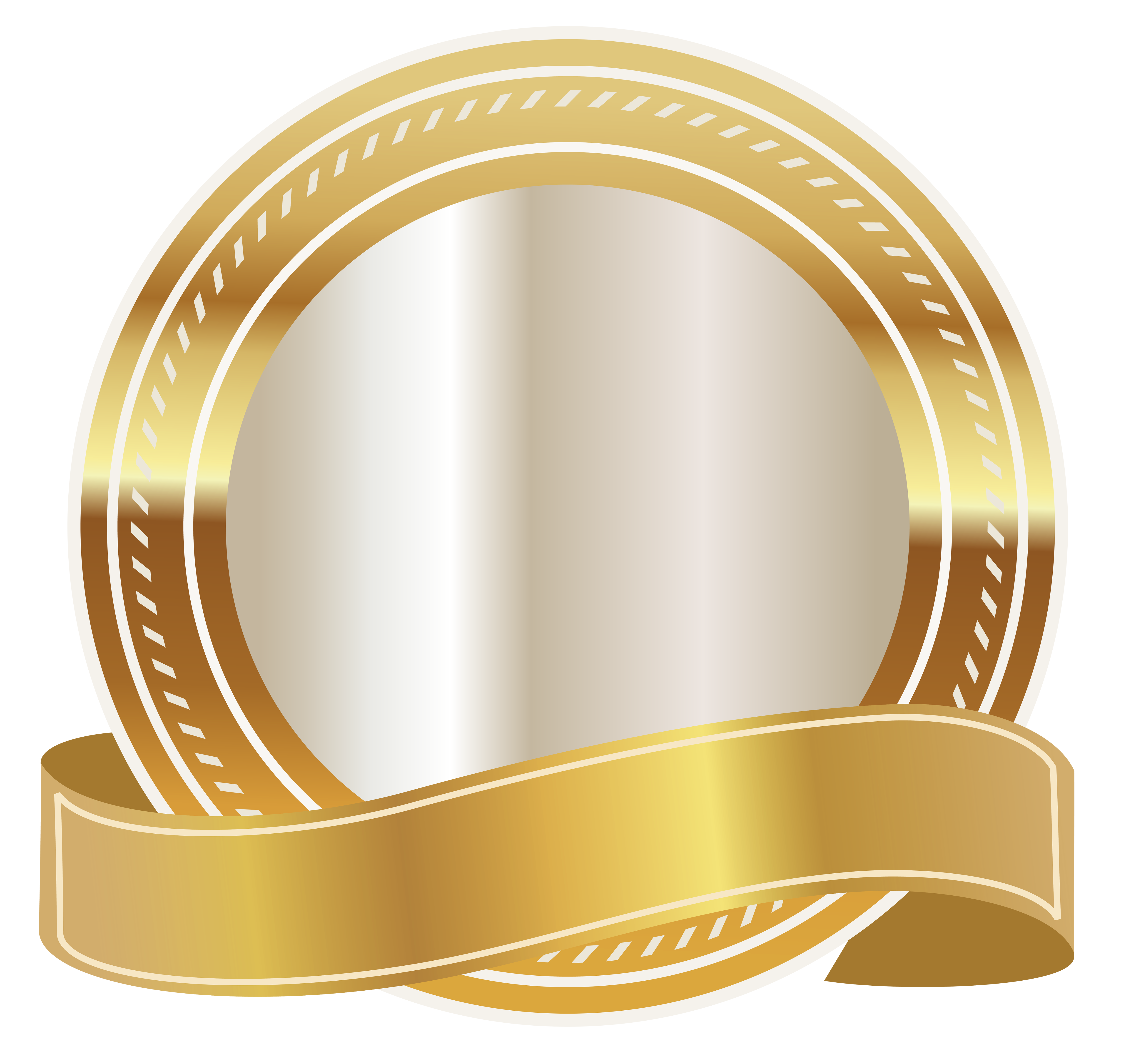 Gold ribbon png. Seal with clipart image