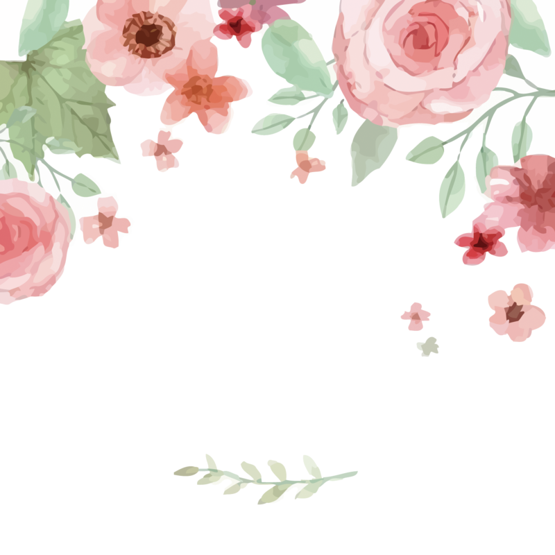 Watercolor flowers png free. Download image dlpng