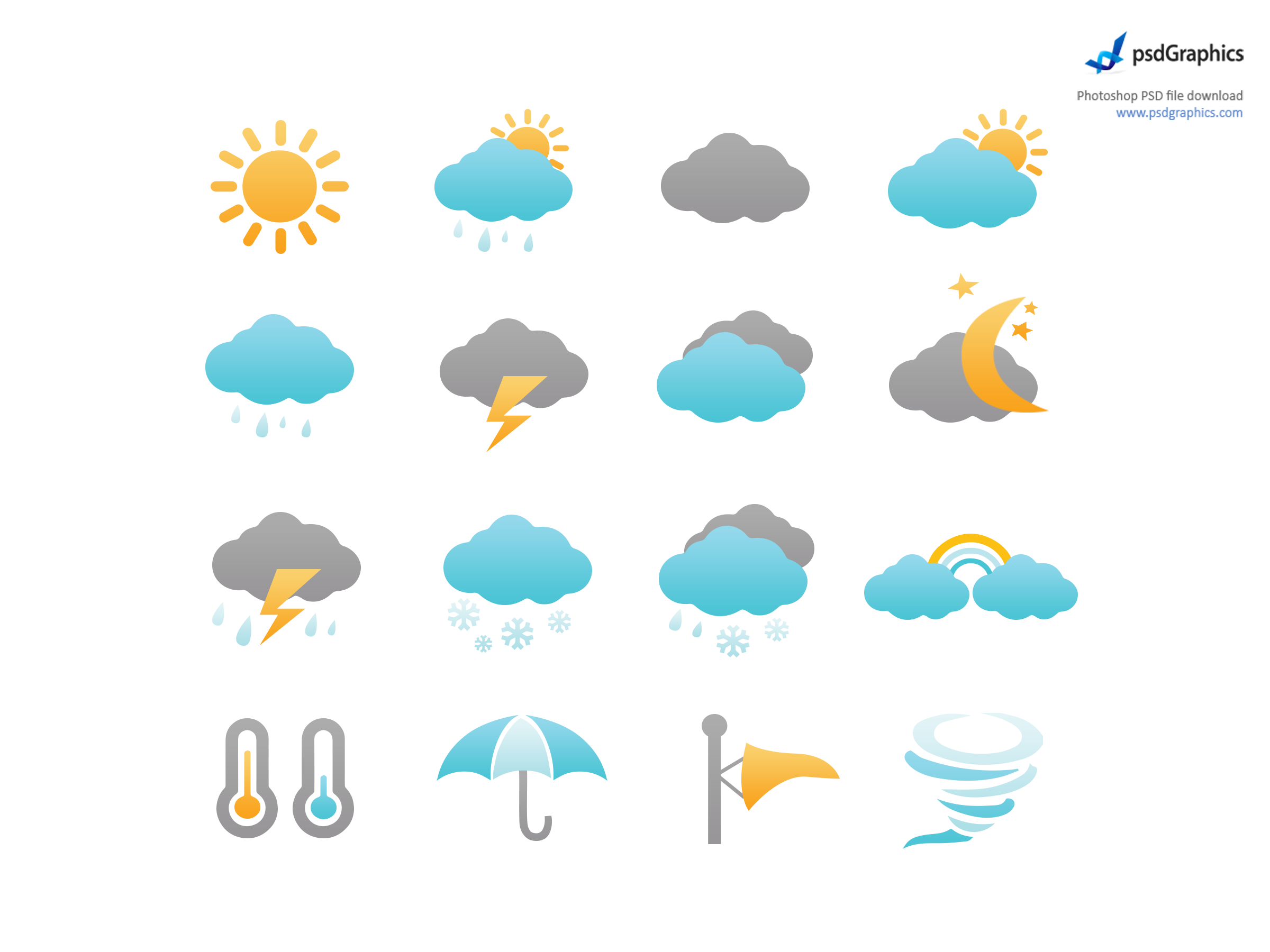 Symbols vector weather. White background images all