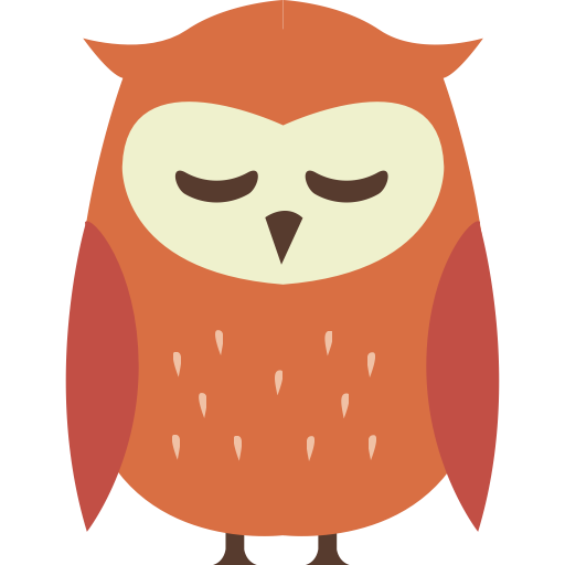 Horror vector owl. Autumn icon places to