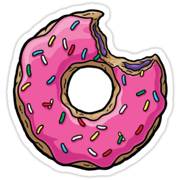 Freelance drawing donut. Stickers pinterest donuts