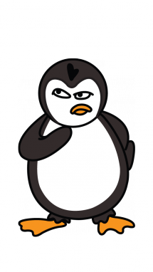 Freelance drawing penguin. Collection of free download