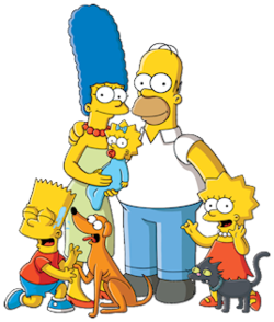 History of the simpsons. Bart drawing homer simpson svg royalty free stock