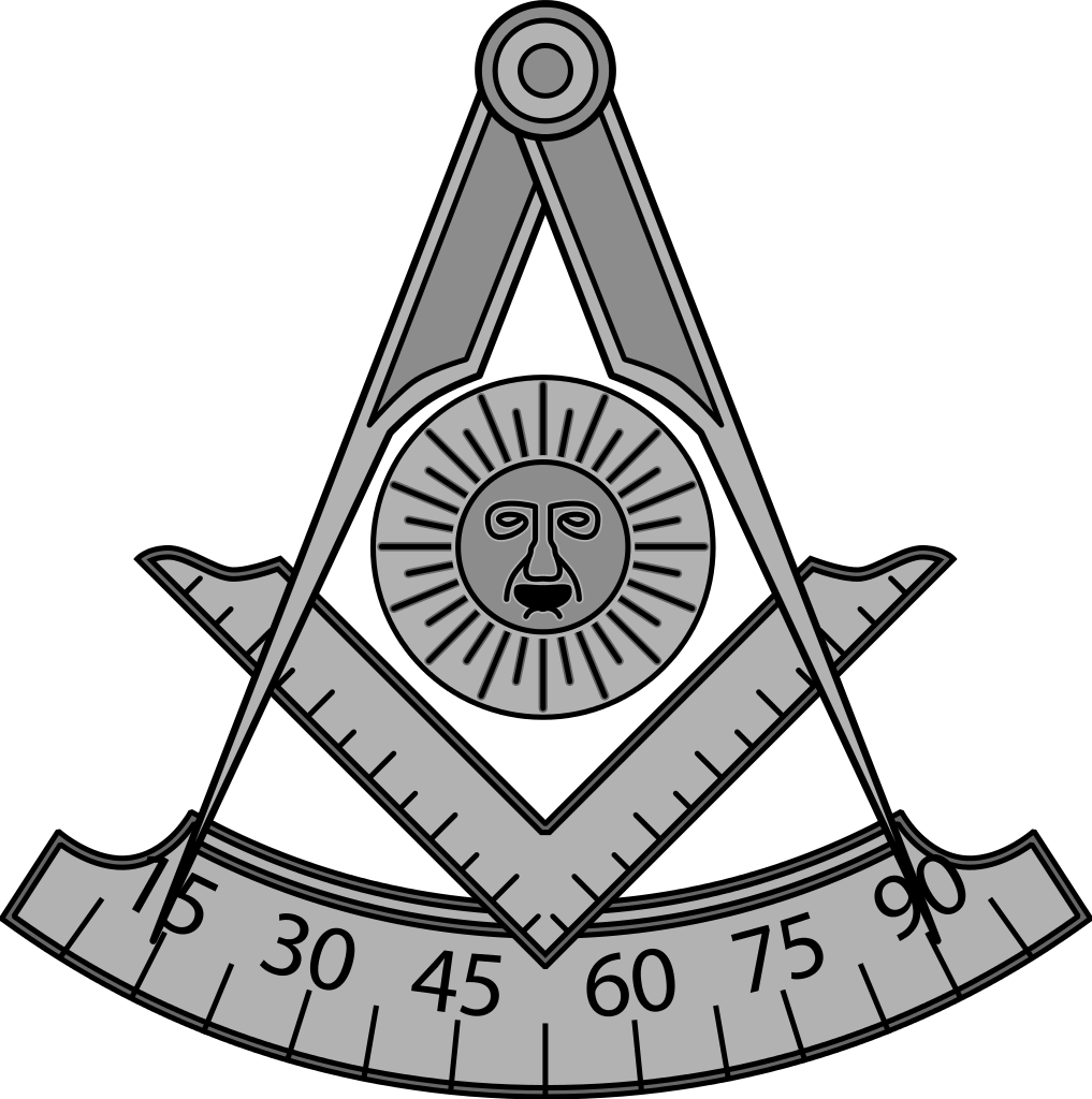 Freemason vector black and white. File masonic pastmaster svg