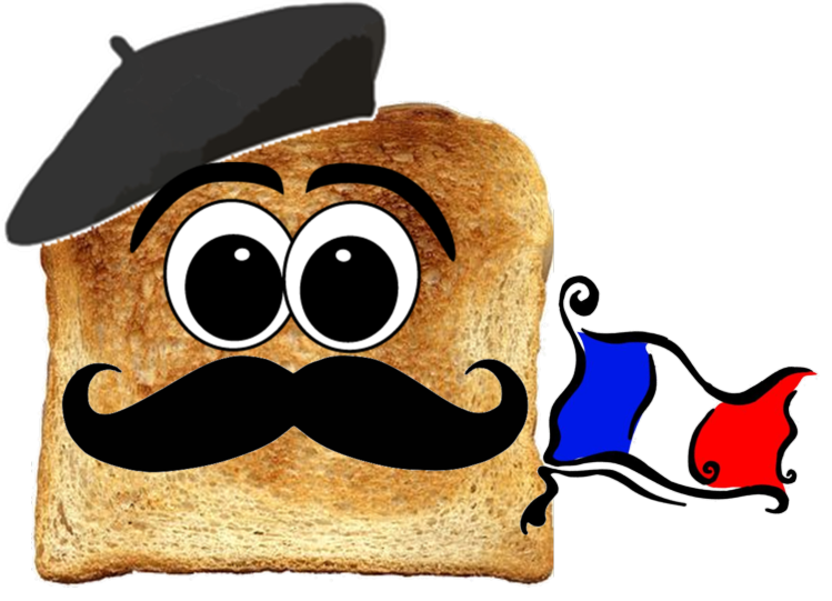 French drawing toast. Free cartoon download clip