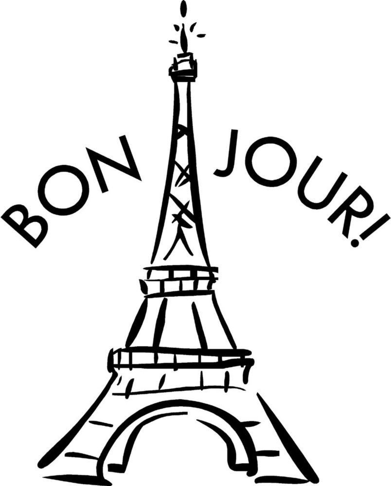 French clipart drawing. Eiffel tower black and
