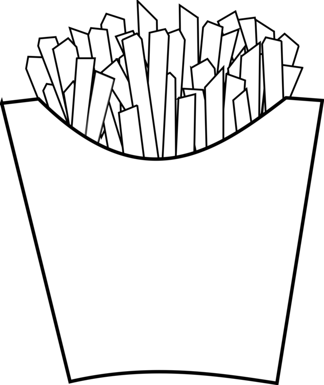 Chip drawing fast food. Mcdonald s french fries