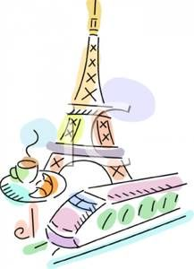 French clipart food france. With the eiffel tower