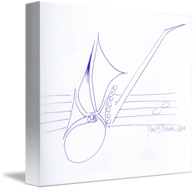 French drawing academic. Sax clef by toni
