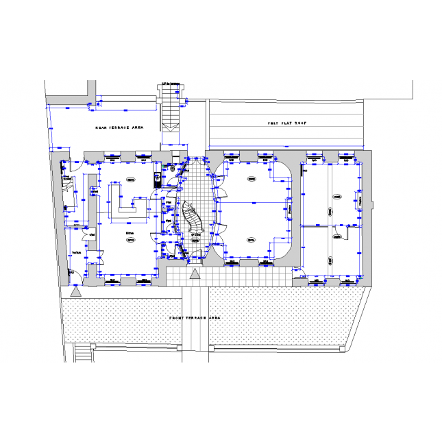 Survey drawing cad. French chateau layout dwg