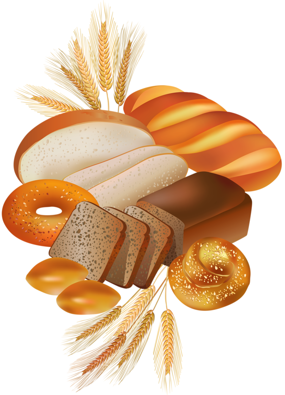 French drawing baked goods. Png fruits vegetables