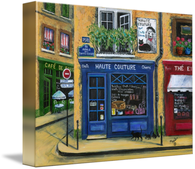 French drawing cafe. Pet shop by marilyn
