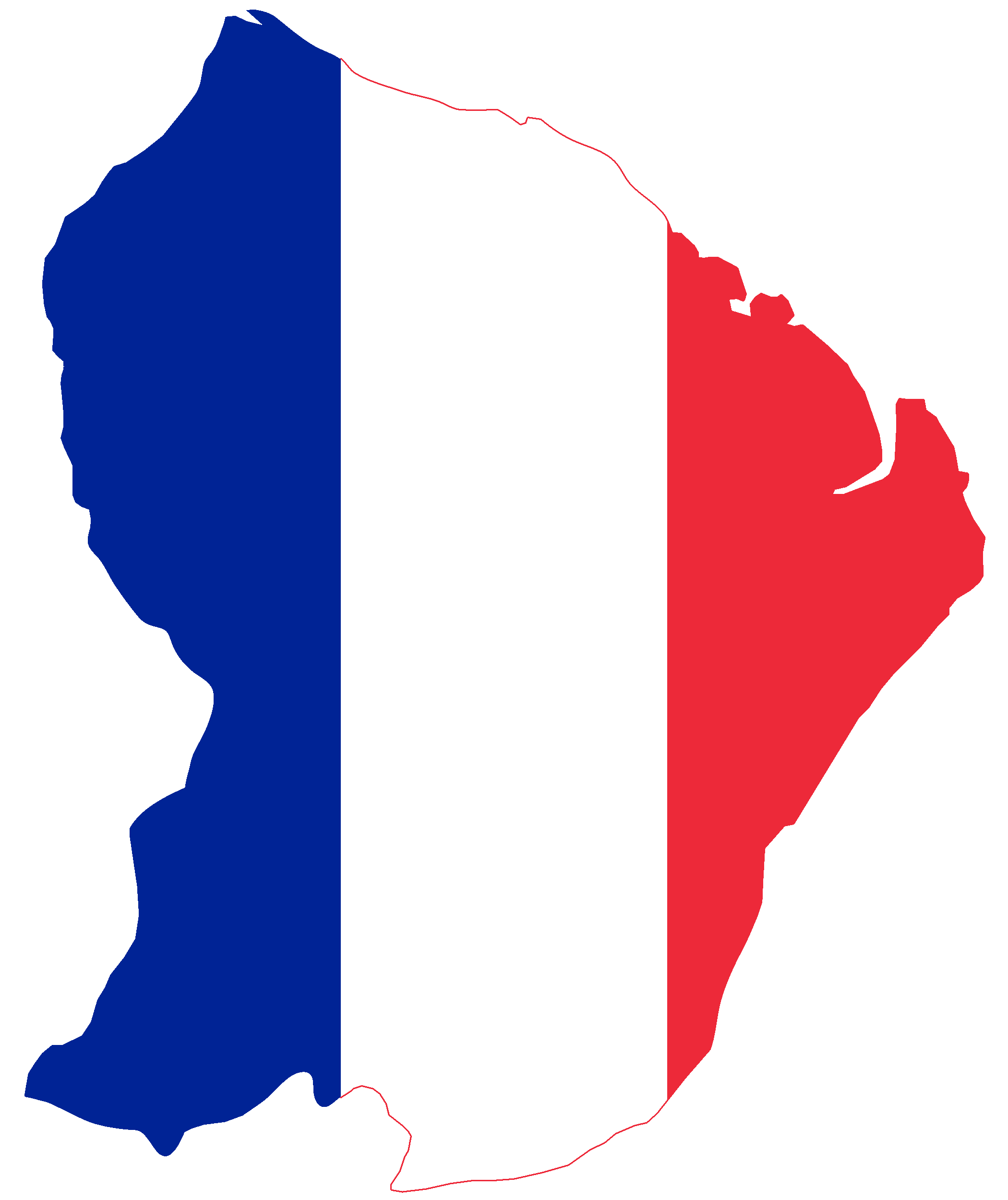 French drawing flag france. File map of guiana