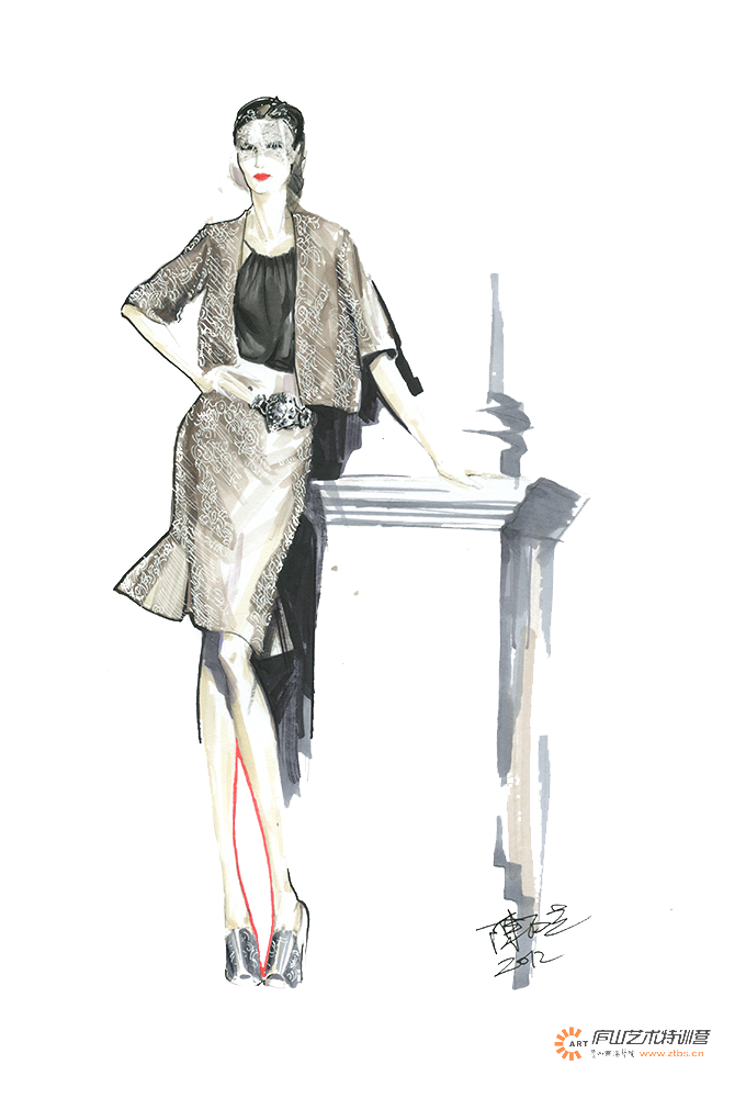 French drawing illustration. France fashion woman transprent