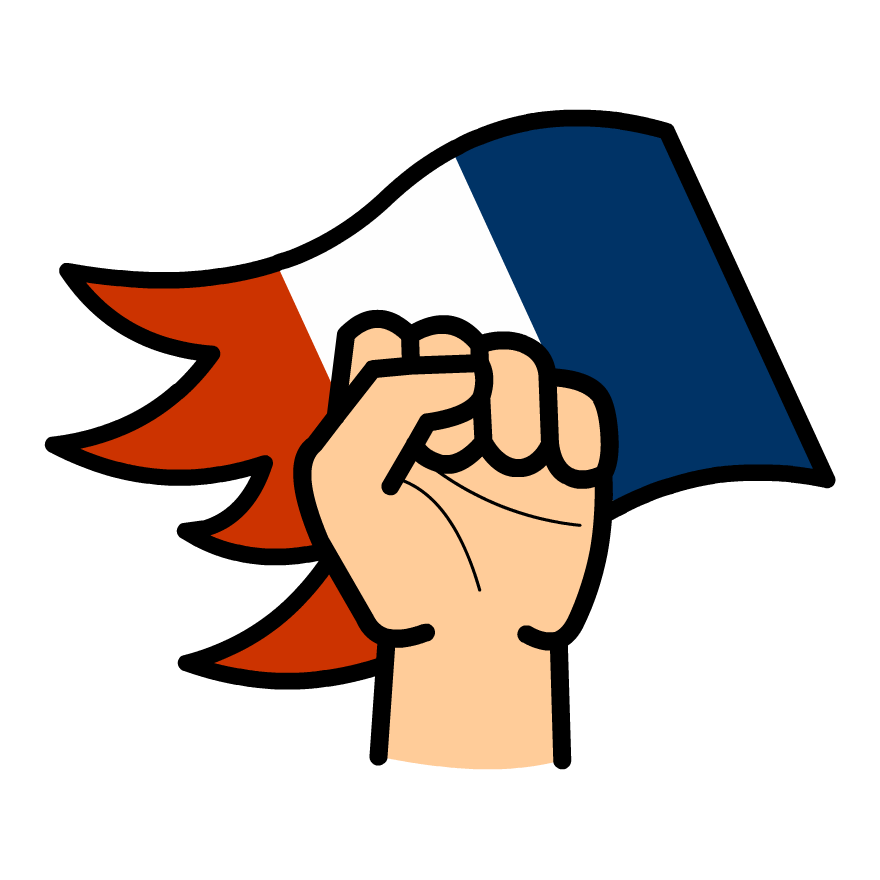French drawing revolution. Collection of clipart