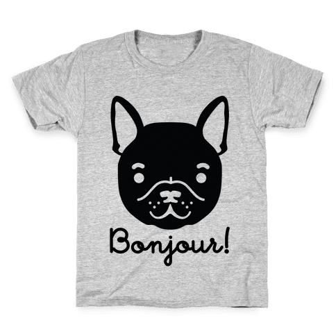 French drawing symbolistic. Bulldog art t shirts