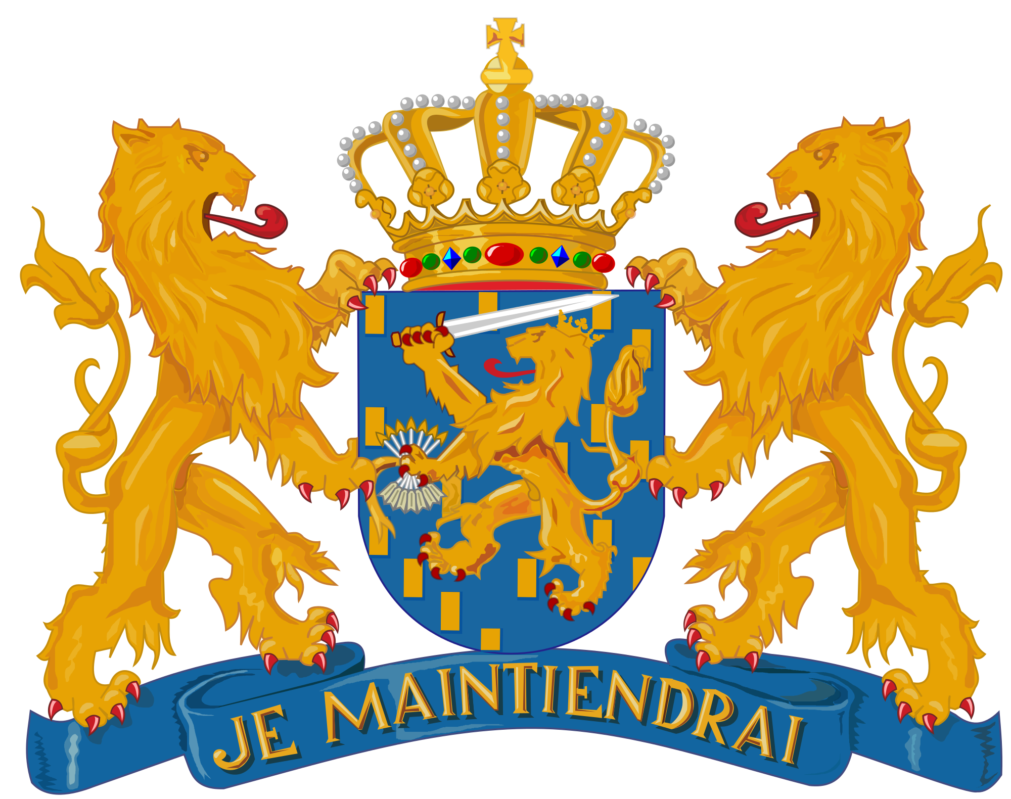 French drawing symbolistic. Coat of arms the