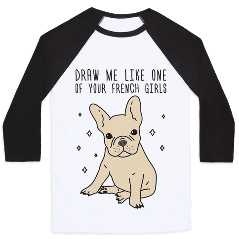French drawing symbolistic. Bulldog baseball tees lookhuman