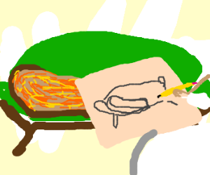 French drawing toast. Draw me like one