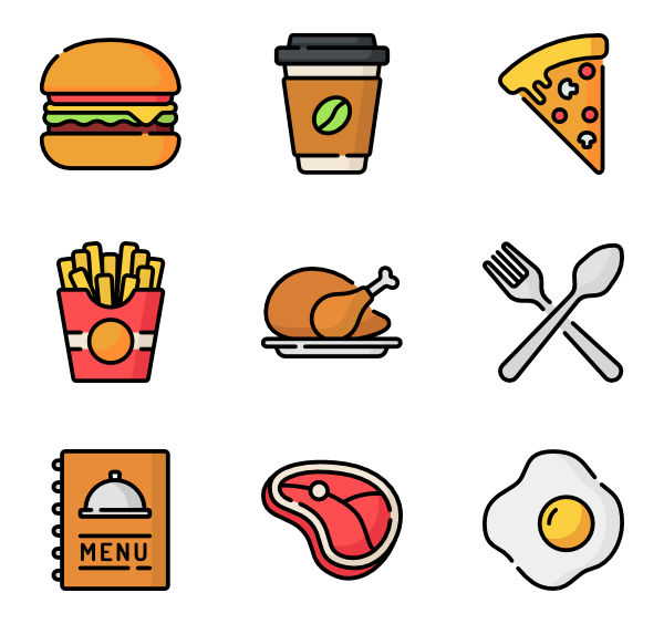 French vector. Fries icons free fast