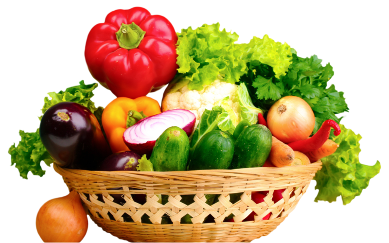 Fresh vegetables png. Download free in basket
